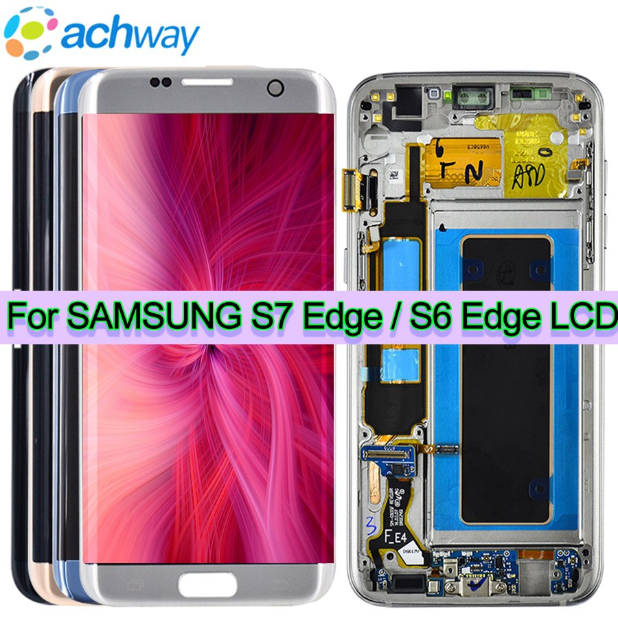 Pour SAMSUNG GALAXY S7 BORD G935 G935F LCD Affichage Écran Tactile Digitizer 5.5 FHD Pour Samsung S7 Bord LCD pantalla Remplacement