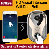 HD 720P Wifi Doorbell Camera 163eye Network Infrared Video Security Ring Wireless Wifi Ip Camera Door