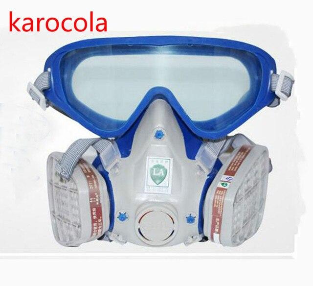 Pulvérisation de peinture masque à gaz Lunettes de sécurité Respirateur  Chimique Anti-Poussière Militaire Des f126f1eb73b2