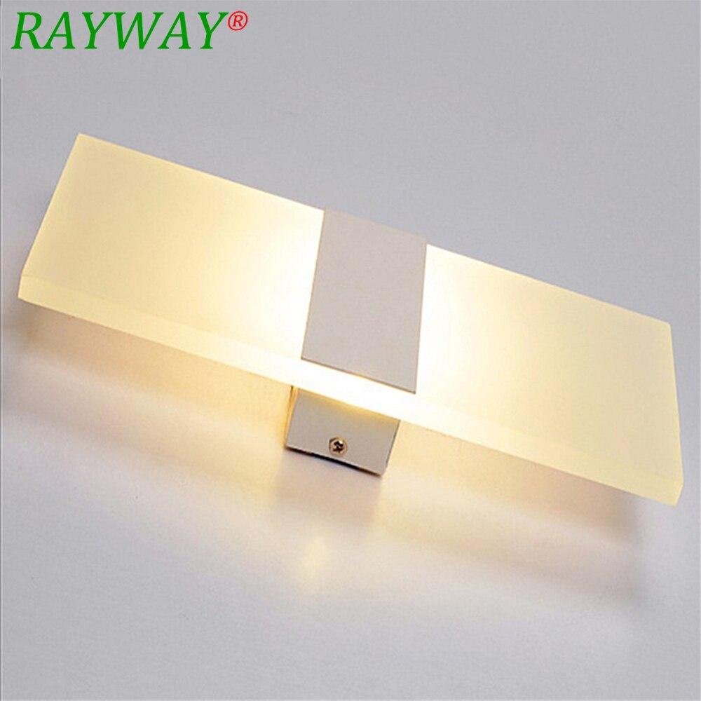 RAYWAY Acrylic 12W LED Wall Sconces Light AC110V/220V LED Stair Bedside Lamp Bedroom Reading Wall Lamp Porch Decor Lobby Lamp цена 2017