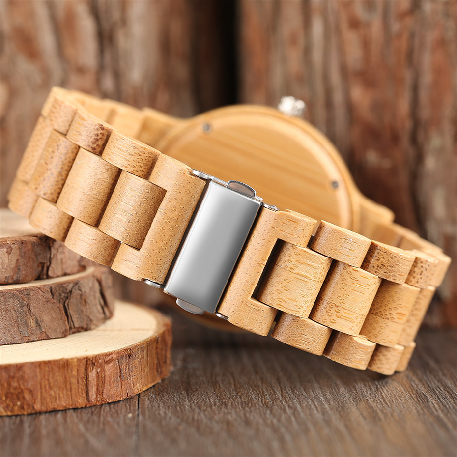 YISUYA Simple Handmade Nature Wood Quartz Wristwatch Analog Casual Women Full Wooden Bamboo Men Creative Watches 2017 New (9)