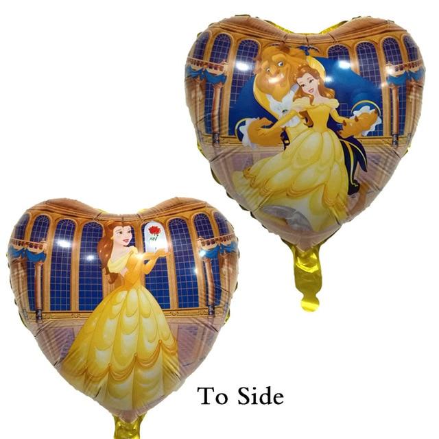 New Beauty and the Beast Globos balões foil 18 polegada princesa balão decorações do Aniversário do bebê Fontes do Casamento Casamento suprimentos