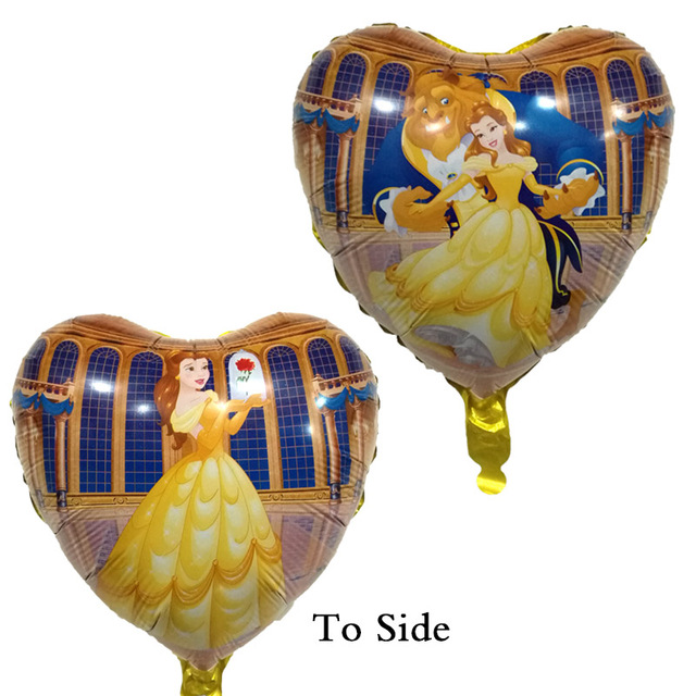 New Beauty And The Beast Foil Balloons 18 Inch Princess Balloon Globos Baby Birthday Decorations Supplies Marriage