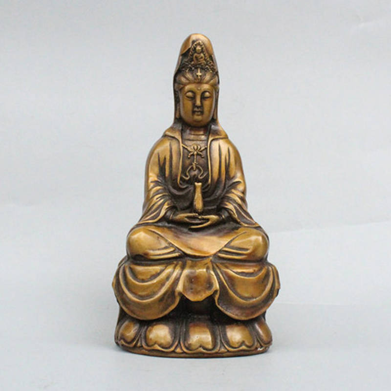 Pure copper Lotus Guanyin Buddha hand entrusted net bottle Zhai Evil spirits Bao Ping Home Worship Buddha Crafts OrnamentsPure copper Lotus Guanyin Buddha hand entrusted net bottle Zhai Evil spirits Bao Ping Home Worship Buddha Crafts Ornaments