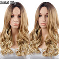 Long Curly Blonde Wig Natural Hair 26'' Long Synthetic Wigs For Black Women Blonde Cosplay Wig Long Ombre Wig Women Hair Style