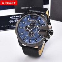 Luxury Brand KUERST G style shock Series 2019 New Mens Sport Watch Men Waterproof Quartz Watch Fashion Leather Strap Chronograph