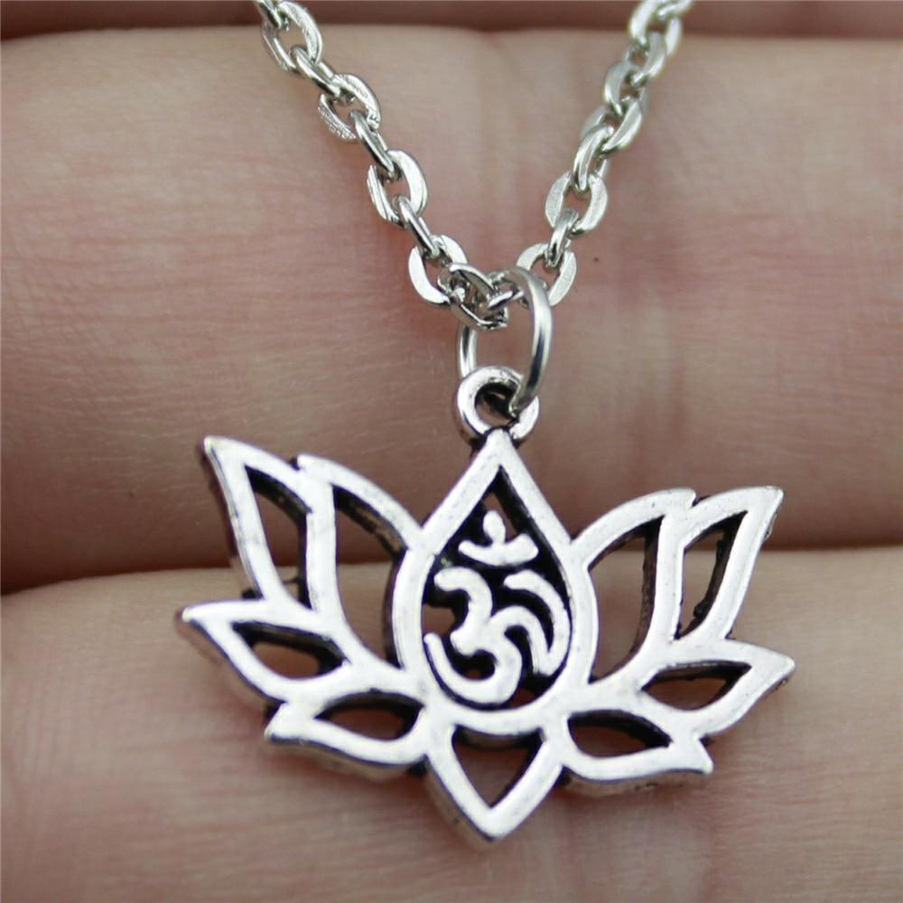 Women's Lotus Om Necklace 2