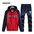 Plus Size XXXXL Hoodies+Sweatpants Sweat Suits Men Autumn Sweatshirt Men Zipper 2017 Cardigan Mens Tracksuit Sets Sweat Homme