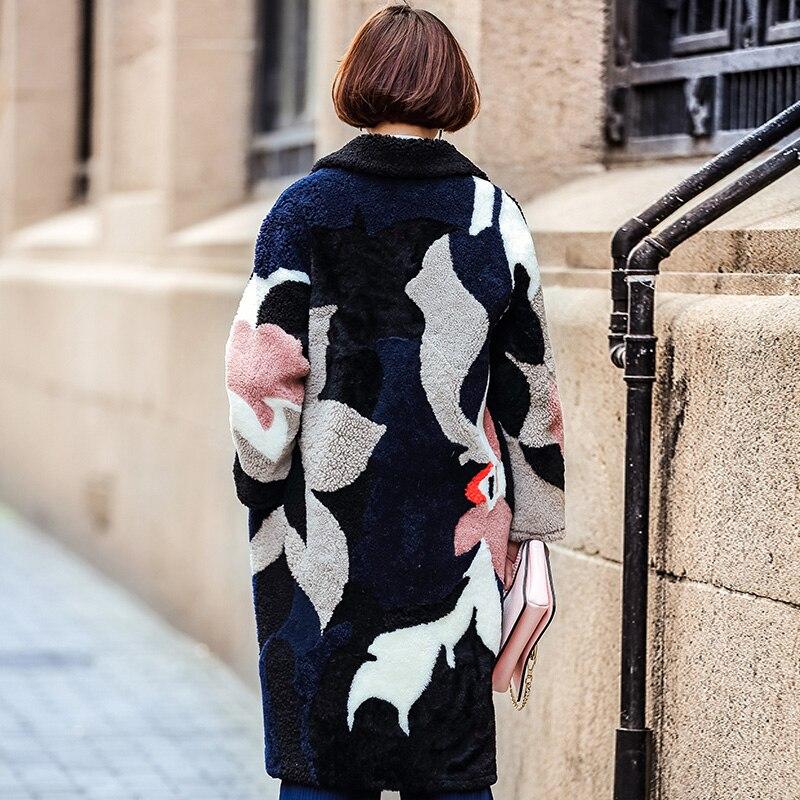 Manteaux Moutons Des Et with Femmes Épais Long Véritable Naturelle De Plus Liner Laine Taille 2019 Veste Without Fourrure Manteau Vraie Tonte Hiver Liner La Chaud Survêtement hQsCBodrxt
