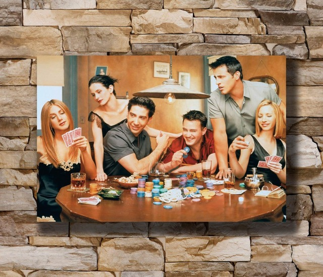 Friends Clic Tv Series Show Season Vintage Home Decoration Poster Wall Canvas Art 14x21 16x24 24x36inch