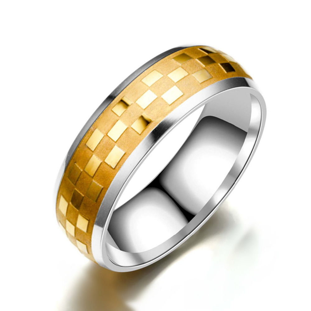 Hot Sale Titanium Band Brushed Wedding Stainless Steel Solid Ring