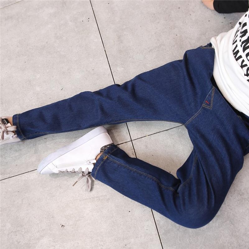 2018 Frühling Kinder Kinder Jungen Jeans Solide Dünne Denim Kind Jungen Jeans Für Große Kinder Jungen Kausal Jeans Lange Hosen