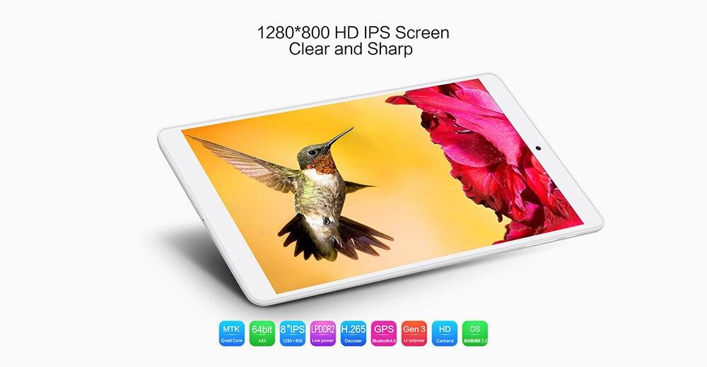 Teclast P80h 8 inch Android 7.0 Tablet PC MTK8163 64bit Quad Core 1.3GHz WXGA IPS Screen 1GB 8GB Dual WiFi GPS Bluetooth 4.0