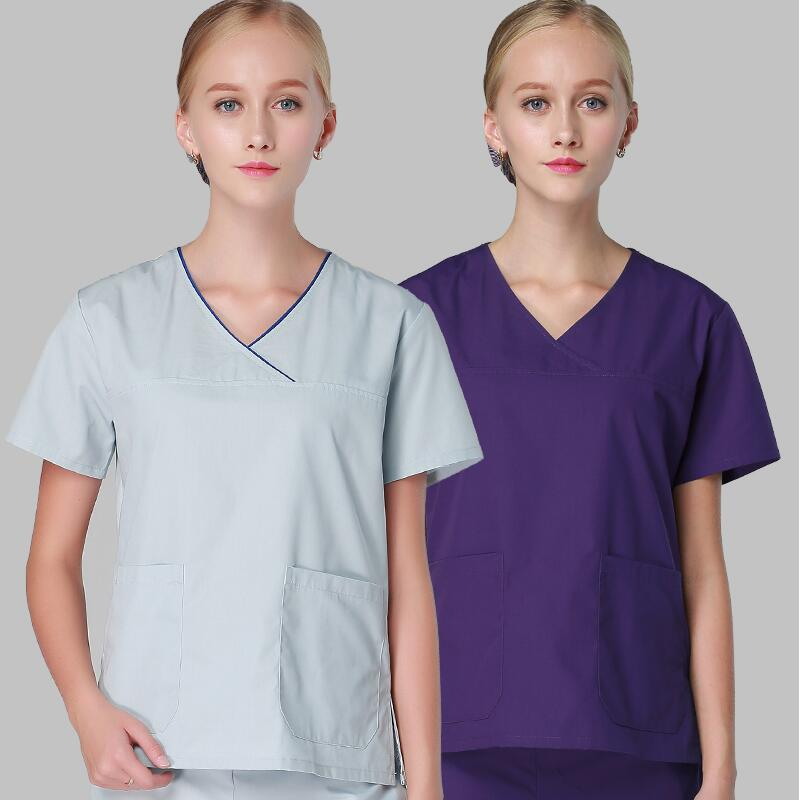 Viaoli Medical Clothes Scrub Sets Doctors Nurses Short Sleeve Uniforms Dentistry Oral Clinic Pet Doctor Workwear Overall New Distinctive For Its Traditional Properties Scrub Sets Work Wear & Uniforms