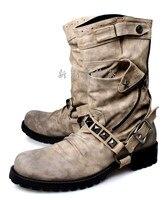 CH. Квок Мужские зимние ботинки ковбойские ботильоны Сапоги и ботинки для девочек кожаные высокие Военная Униформа Обувь Тактический винтаж