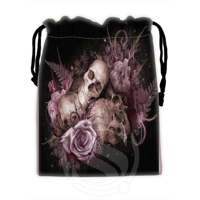 Fashion Design Custom Skull #5 Drawstring Bags For Mobile Phone Tablet PC Packaging Gift Bags18X22cm SQ00715-@H0346
