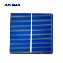 Aiyima 50pcs Mini 52*52MM 0.43W Solar Panel Polycrystalline Solar Panel Battery Cell For Phone Charging DIY