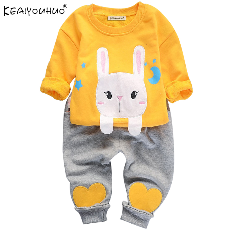 Autumn Baby Girl Boys Clothes Sets Long Sleeve Kids Sport Suit Cartoon Cotton Children Clothing T-Shirt+Pants Girls Clothes Sets 2016 spring autumn cotton fashion boys clothes 3pcs children clothing sets long sleeve t shirt vest casual pants outfits b235