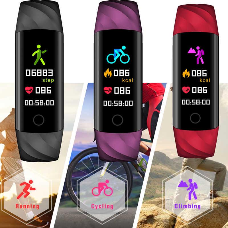 Reloj inteligente BANGWEI de 2018 con frecuencia cardíaca, oxímetro de oxígeno, anillo deportivo, reloj resistente al agua inteligente para iOS Android