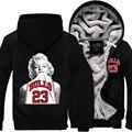 2016 Llegada Del Invierno Nueva Espesar Chaqueta de Marilyn Monroe Michael JordanFleece Vistiendo de manga Larga Con Cremallera Tops tallas grandes