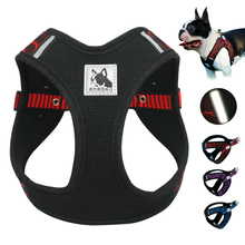 No Pull Mesh Dog Harness Dogs Vest 3M Reflective Nylon Adjustable Step-in Pet Harnesses for French Bulldog Pitbull