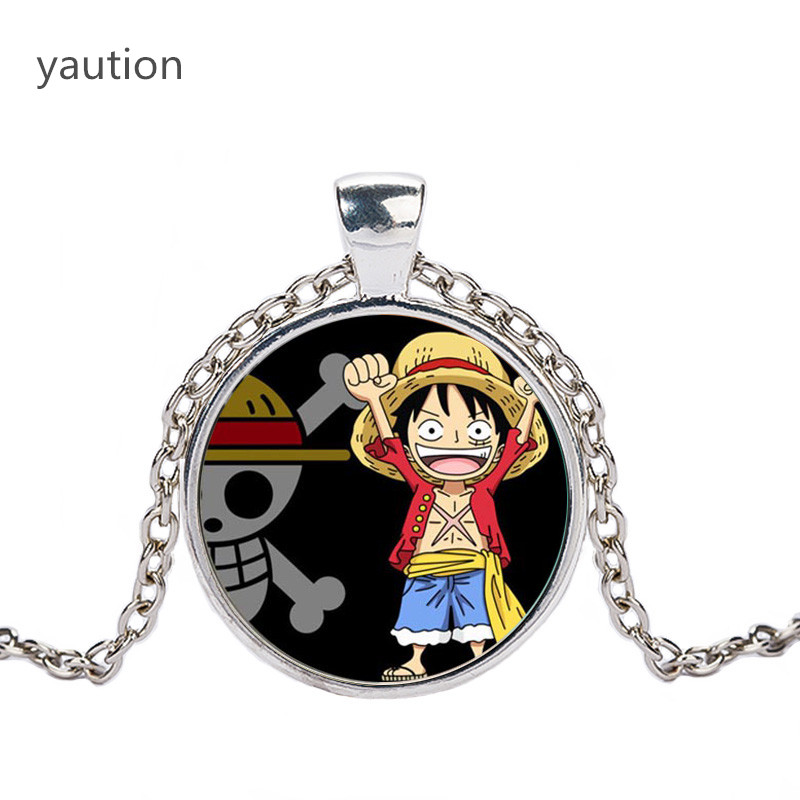 Pendant Gif ONE PIECE MONKEY D LUFFY Pirate Flag Cosplay Double Keychain Keyring