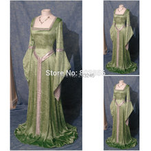 Custom Made Classical Medieval Gothic Long Dress