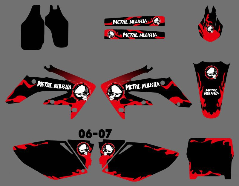 GRAPHICS & BACKGROUNDS DECALS STICKERS Kits for Honda CRF250 CRF250R 2006 2007 CRF 250 250R CRF 250 R new hot 2014 2015 two sides new aluminum radiator for honda crf 250 r crf250r crf250 brand motorcycle both of side of oem parts