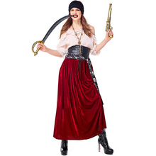 New Pirate Costume Cosplay For Women Halloween Suit Carnival Party Dress Up