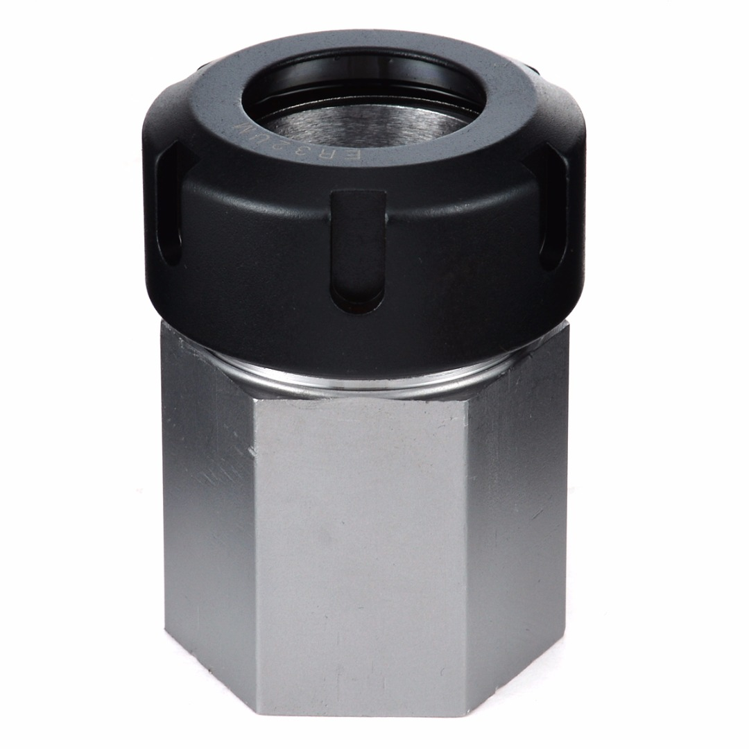 1pc Spring Chuck Collet Holder Hex ER32 Collet Block 45x65mm For Lathe Engraving Machine