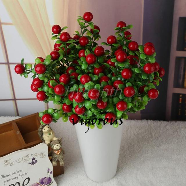 Green Artificial Plants Fake Fl Plastic Silk Flowers Eucalyptus Plant Office Hotel Table Decor