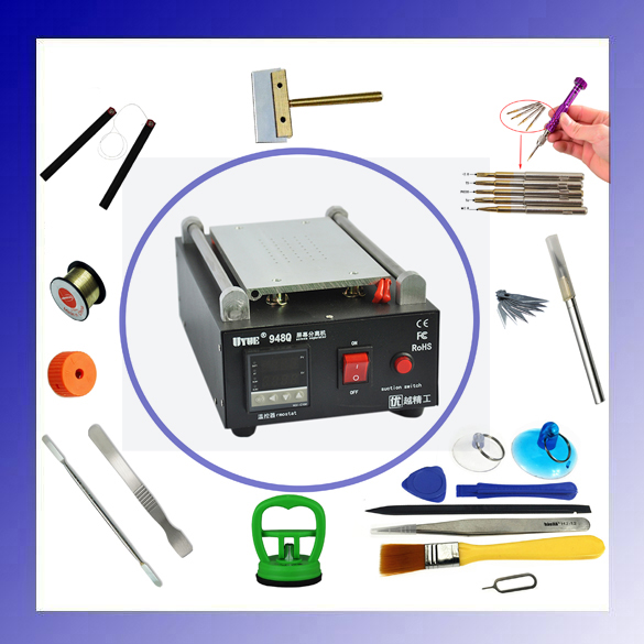 ФОТО UYUE 948Q 7 inch110/220V Build-In Air Pump Vacuum LCD Separator Machine Screen Repair Machine Kit For iPhone Samsung with gifts