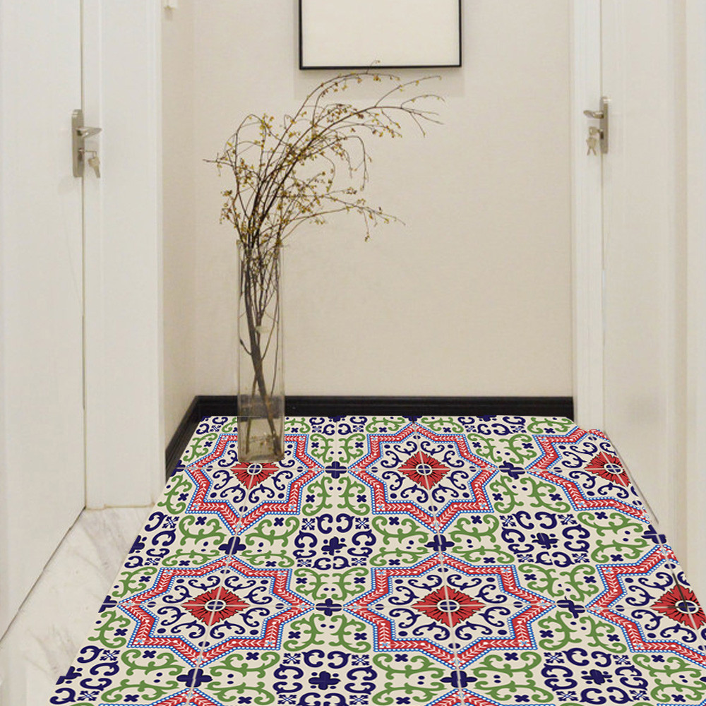 6Pcs Self Mediterranean style Self Adhesive Tile Art Wall Decal ...