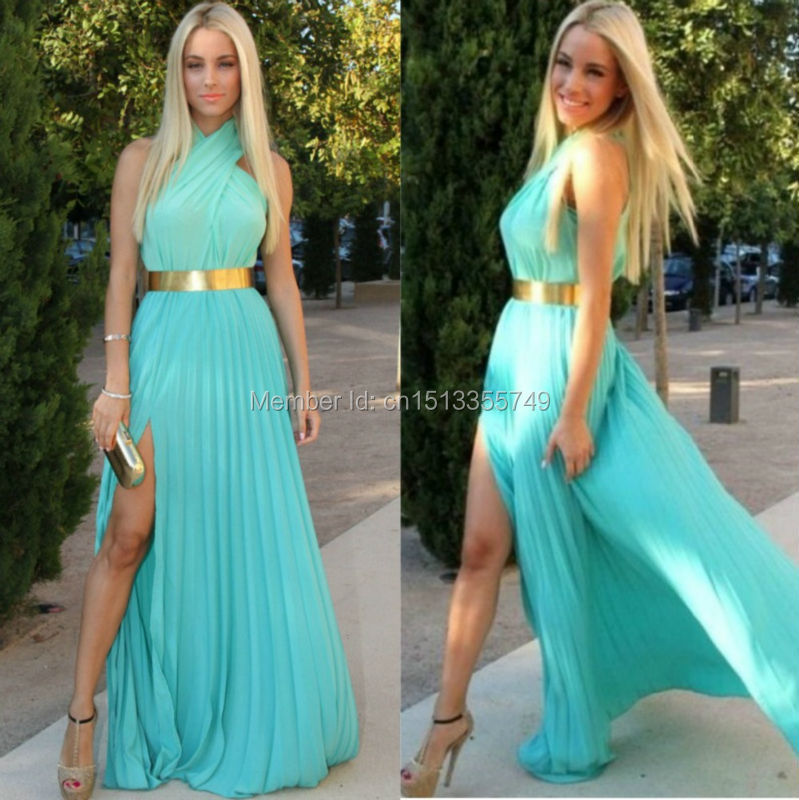 Long Turquoise Bridesmaid Dresses