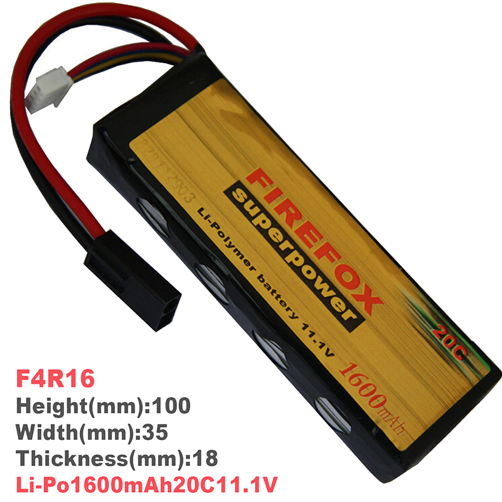 1pcs 100% Orginal Firefox 11.1V 1600mAh 20C Li-Po AEG Airsoft Battery F4R16 1pcs 100% orginal firefox 7 4v 1600mah 20c li po aeg airsoft battery f2r16t drop shipping