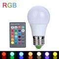 3 W LED RGB Luz E27 RGB CONDUZIU a Lâmpada 110 V 220 V Lâmpada LED Lampada LEVOU Lâmpadas de alta Potência de 16 Cores Mutável Com Controle Remoto IR