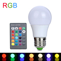 3 W Led RGB E27 RGB LED de La Lámpara 110 V 220 V Bombilla LED de alta Potencia Lámparas Lampada LED 16 Colores Cambiantes Con Control Remoto IR Controller