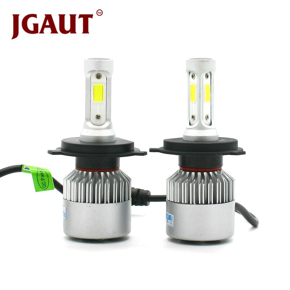 JGAUT S2 12 V Phare De Voiture H4 LED H7 H1 H3 H11 H13 HB2 HB4 HB5 9004 9005 9006 9007 72 W 8000LM Projecteur Automatique 6500 K Ampoule