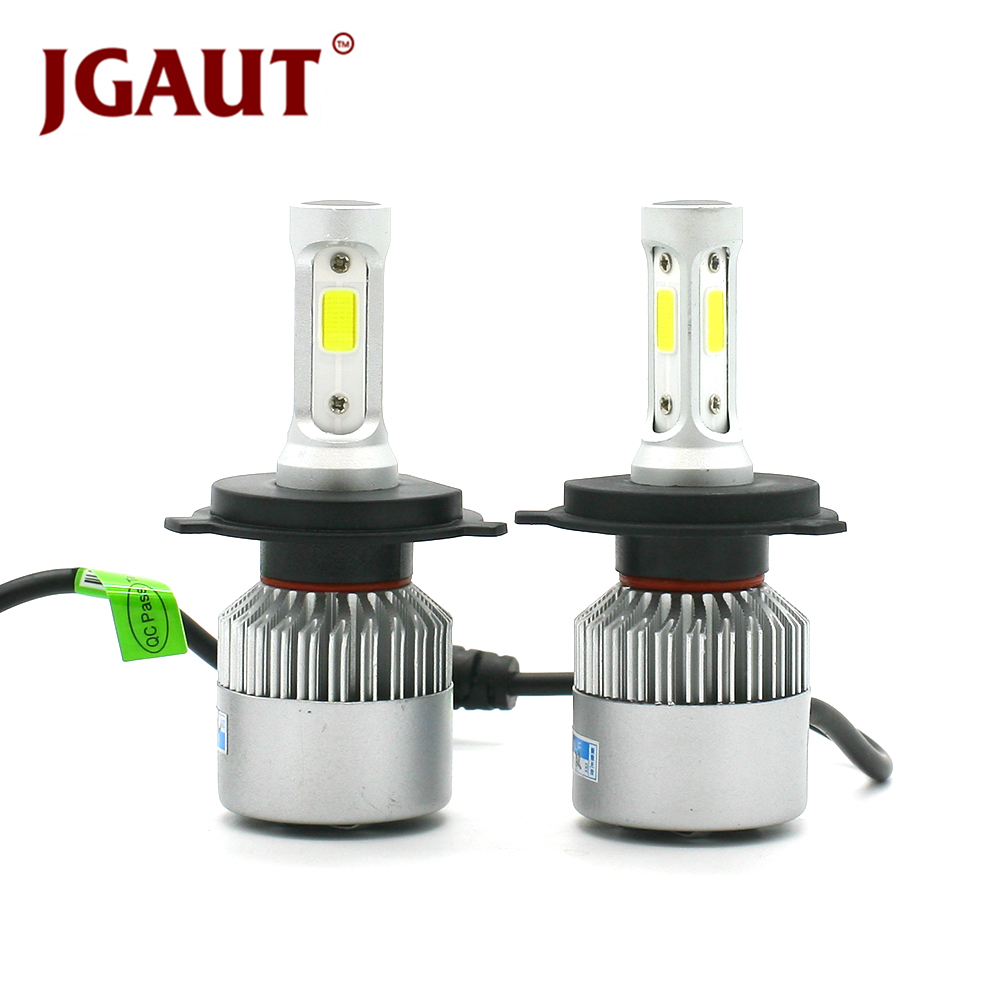 JGAUT S2 12V Car Headlight H4 LED H7 H1 H3 H11 H13 HB2 HB4 HB5 9004 9005 9006 9007 72W 8000LM Auto Headlamp 6500K Light Bulb