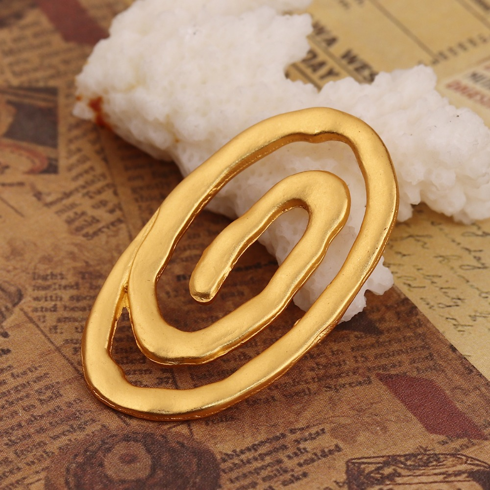DoreenBeads Zinc Based Alloy Connectors Oval Matt Gold Spiral Style Jewelry DIY Findings 37mm(1 4/8