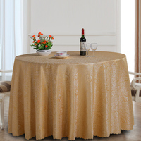 WLIARLEO New Polyester Tablecloth For Wedding Gold Printed Dust proof Dining Table Cloth Round tablecloth manteles para mesa