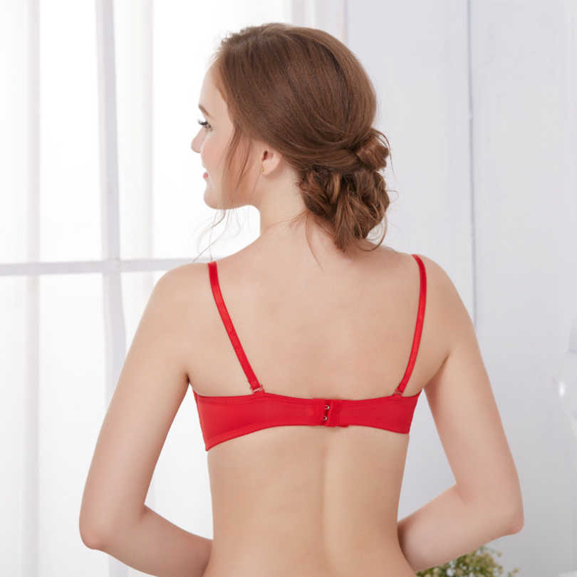 1963596ee6 ... Womens Double Push Up Bra Mozhini Half Cup(1 2 Cup) Sexy Underwire ...