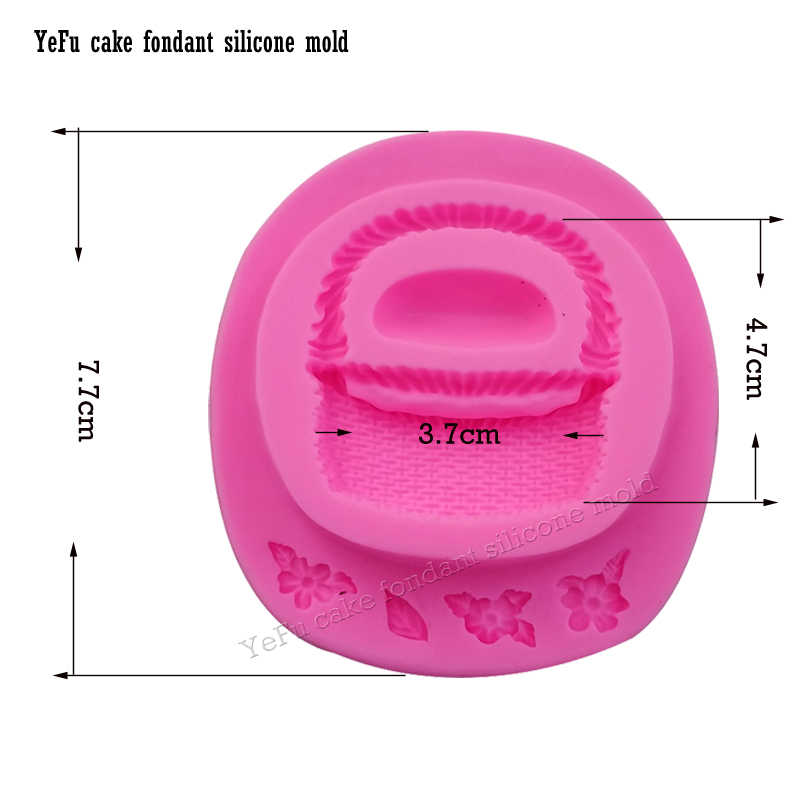 Цветочная корзина силиконовый Фондант для форм кекса формы торт декоративное устройство для шоколада форма для мастики кухонные инструменты F0892