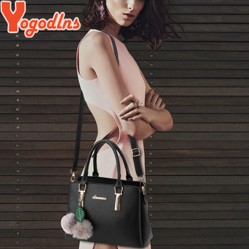 Image 5 - Yogodlns women fur ball ornaments totes zipper medium handbag hotsale lady party purse new shoulder messenger crossbody bags-in Shoulder Bags from Luggage & Bags
