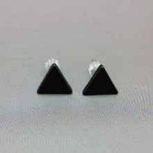 Black Western Triangle Jewelry Earrings
