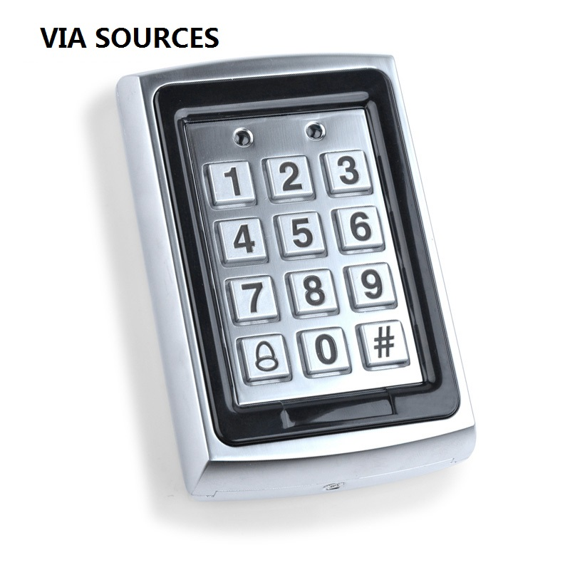 Free Shipping Waterproof Metal Rfid Access Control Keypad 125KHz Card Reader Keypad Key Fobs Door Access Control System