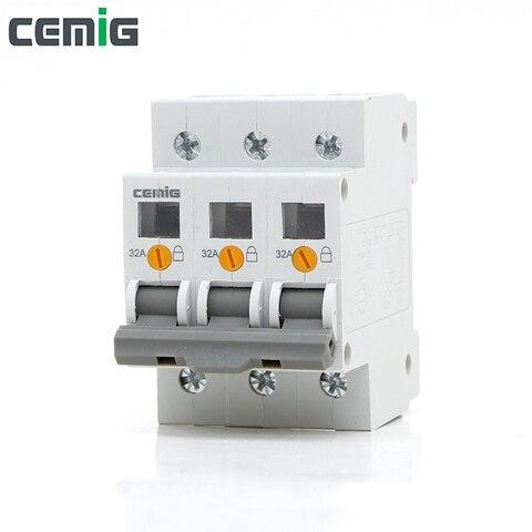 cemig smgg1 100 miniatura interruptor isolador disjuntor 3 p ac230 400 v 50 60 hz