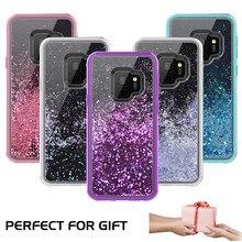 Роскошный зыбучий песок жесткий чехол TPU розовый для samsung Galaxy S9 Plus чехол для samsung S9 Plus чехол s Блестящий с жидкостью чехол S9plus