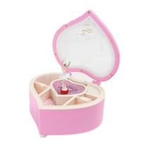 Heart Shape Dancing Ballerina Music Box Jewellery Box Girls Carousel Hand Crank Music Box Mechanism Birthday Chirstmas Gift