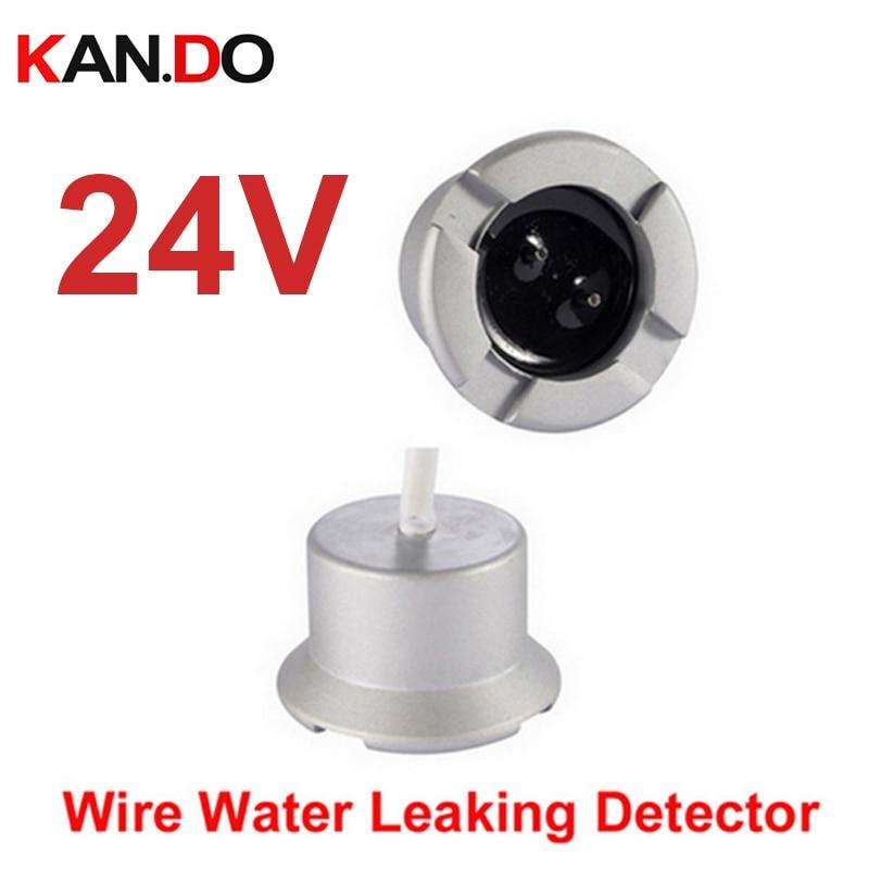24V Water Leaking Detector Liquid Overflow Sensor Water Sensor Alarm System Wired Alarm Sensor Water Alarm Water Leakage Alarm